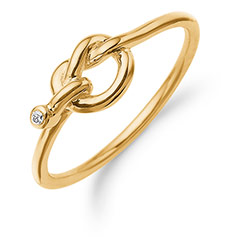 Danske designer Aagards ring i 8 karat guld